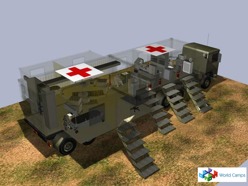 Medical Mobile Container Hospital Trailers Mobile